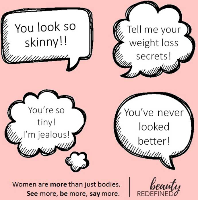You Look So Skinny Compliment